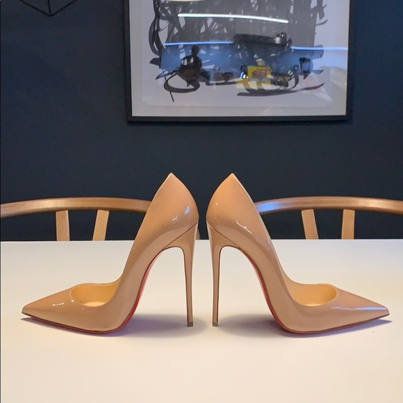 new product 59875 a2266 Christian Louboutin So Kate 120mm Nude Patent NWT